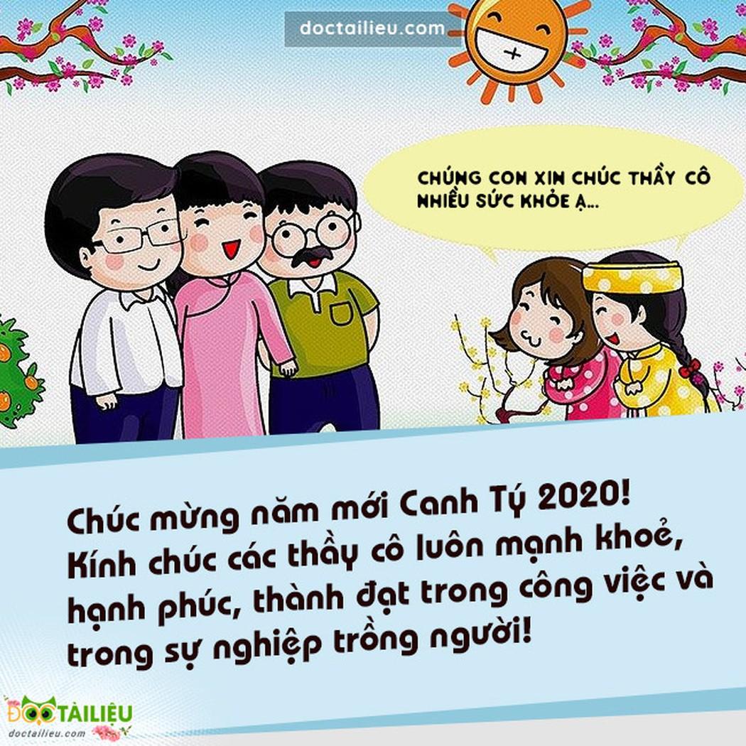 Học sinh đến chúc Tết thầy cô giáo đã trở thành nét đẹp trong văn hóa ngày Tết cổ truyền của người Việt.
